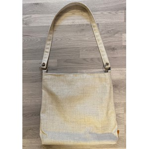 Shopper V2 bag in Grid Ecru 79648