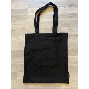 Totebag with pocket in Cascina col. 05999 black