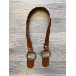 Leather handle no. 6, Brown col. 207