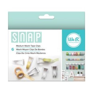 Washi Tape Clips - We R - Snap Storage - Medium 6 Piece