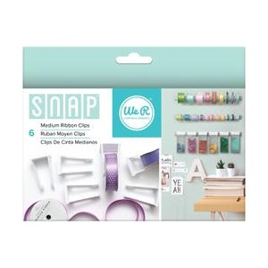 Ribbon Clips - We R - Snap Storage - Medium 6 Piece