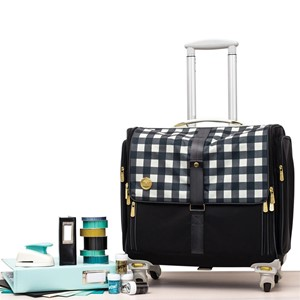 WR FoldUpCraftBag Plaid Black